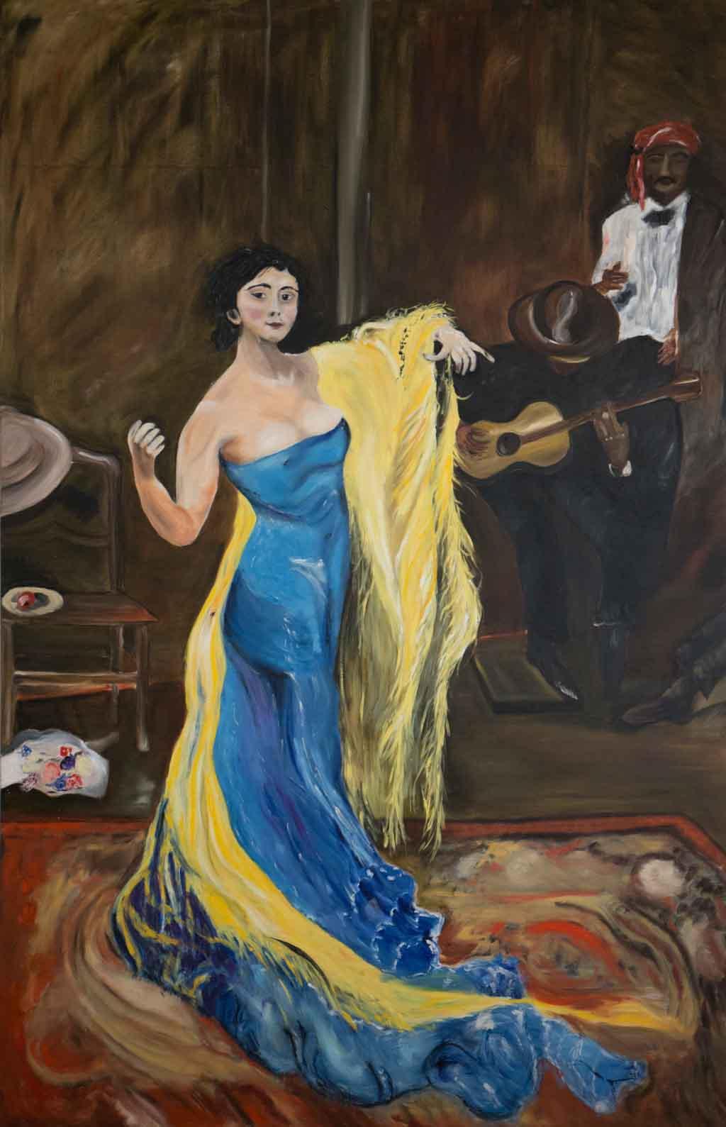Nach Max Slevogt Marietta di Rigardo Öl 240 cm * 140 cm © Reimund Konrad